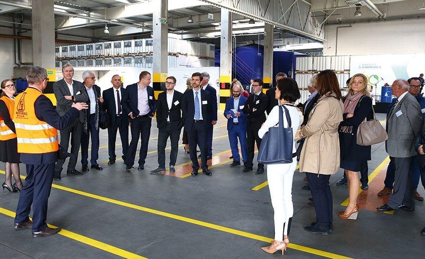 Jubileusz firmy CHIMIREC był okazją dla gości do zwiedzenia zakładu w Rembertowie.