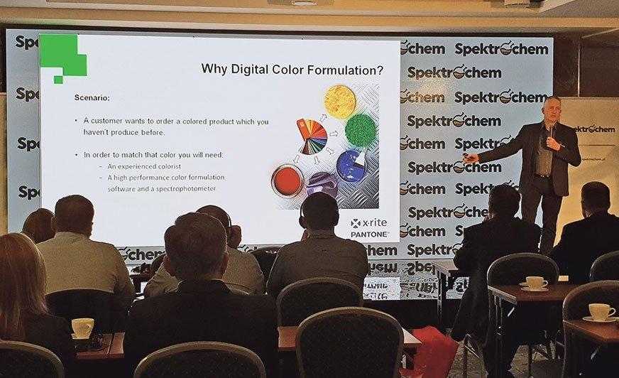 Jedna z prezentacji podczas X Seminarium Spektrochemu.