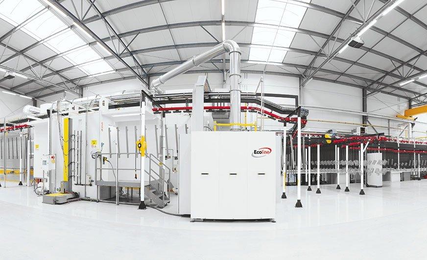 We własnym laboratorium badań i rozwoju, wyposażonym w lakiernię proszkową, prowadzone są testy malowania elementów metalowych.