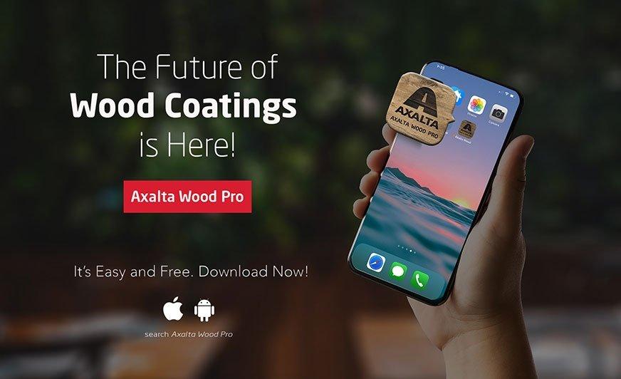 Nowa aplikacja mobilna Wood Pro od Axalty ułatwi dobór powłoki do drewna.