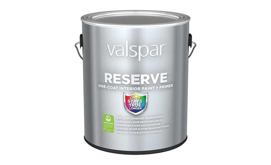 Reserve Interior Paint + Primer to nowa propozycja firmy Valspar pełniąca jednocześnie rolę podkładu i farby wykończeniowej.