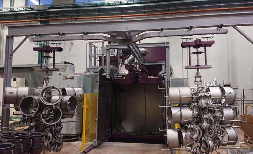 Oczyszczarka strumieniowo-ścierna zawieszkowa AGTOS typu HT 17-17.