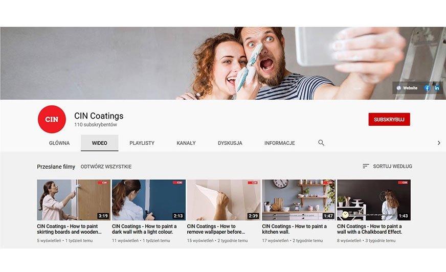 Na nowym kanale CIN można już obejrzeć filmy instruktażowe ułatwiające użytkownikom przeprowadzenie remontu.