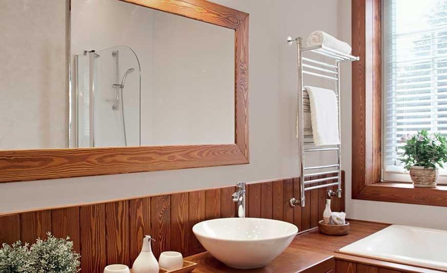 W łazience inspirowanej naturą króluje minimalizm i jasne, ciepłe odcienie. Źródło: Tikkurila